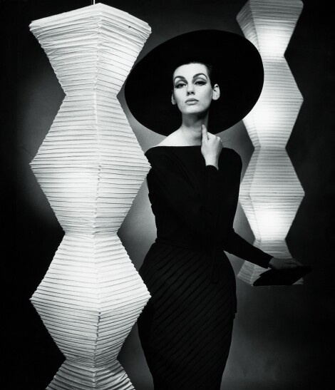 """The little black dress"", Judy Dent, dress by Heinz Oestergaard / F.C. Gundlach"
